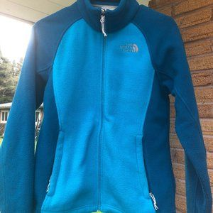 North Face Fleece Blue/Teal Full Zip Jacket